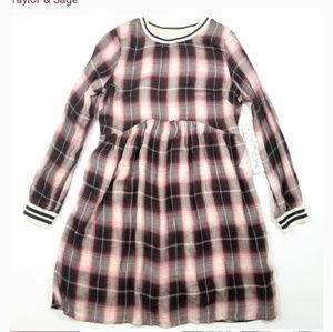TAYLER & sage plaid dress.. size small